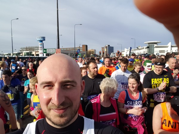 Adam from K2L running the Manchester marathon