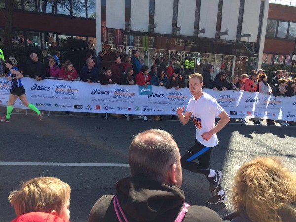 Jonny from K2L running the Manchester marathon