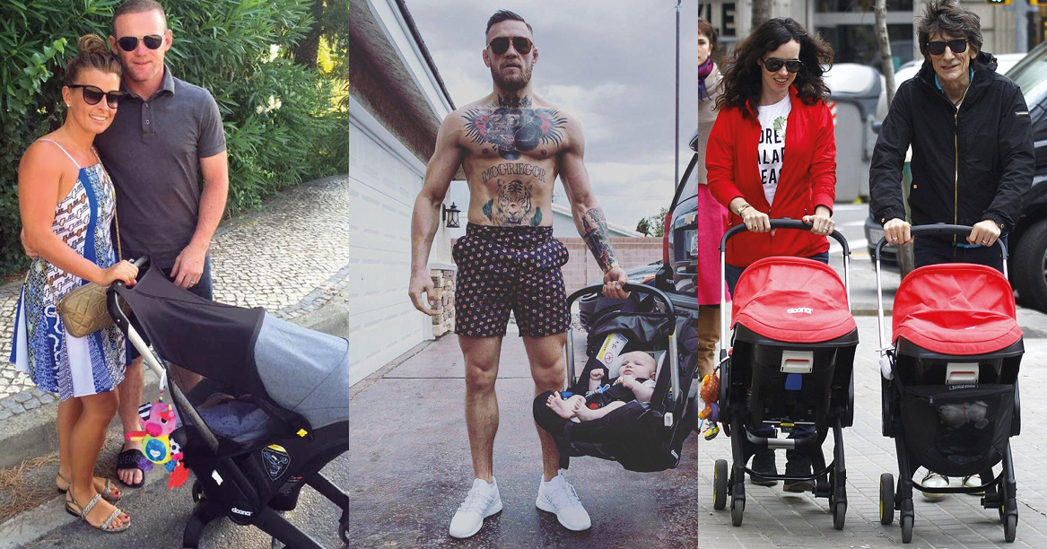 Celebrities with Doona prams